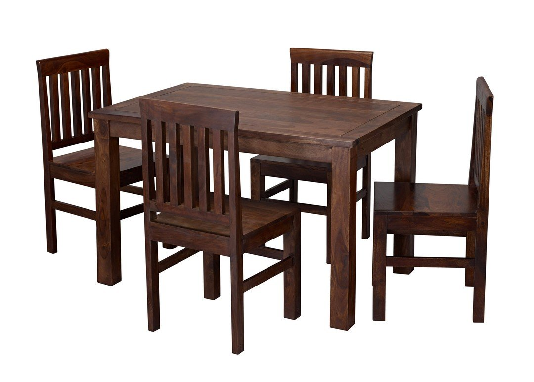 Jaipur sheesham wood dining table with 4 chairs amazon co uk kitchen home