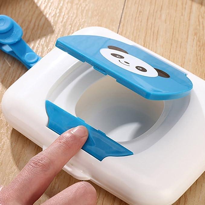 Naisicatar - Dispensador de toallitas húmedas para bebé, 3 unidades, portátil, para viajes al aire libre: Amazon.es: Belleza