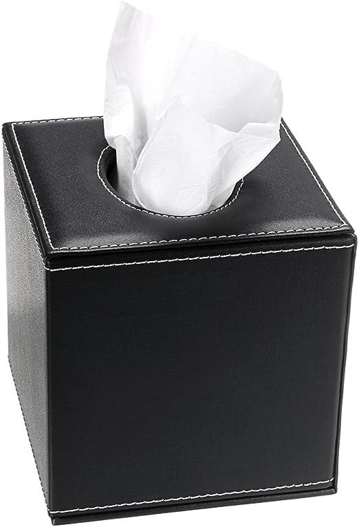 SUMNACON caja de pañuelo cuadrado, en piel sintética, sobre y ...