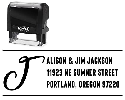 amazon com return address stamp personalized self inking choose