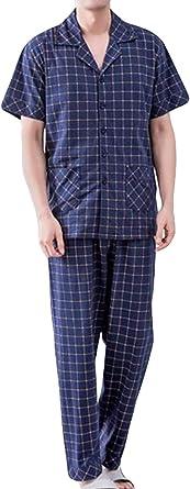Pantalones Y Pijamas De Pijama para Hombre 2 Algodón Piezas ...