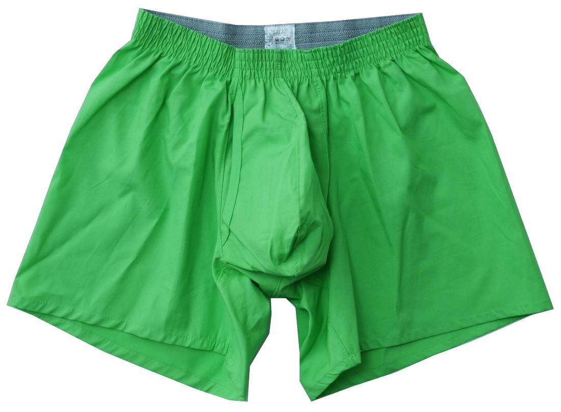 MSPEC Men's 3D-Crotch Breathable/Comfortable Boxers Apple Green XXXL