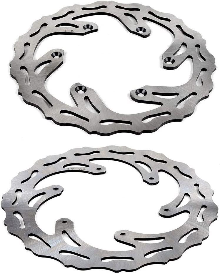 Without brand KF-DISC Gr/ö/ße : Front and Rear Motorrad-Stahl-Front hinten Bremsscheibe for Yamaha YZ125 YZ250 YZ250F YZ450F YZ250X YZ250FX WR250F WR450F