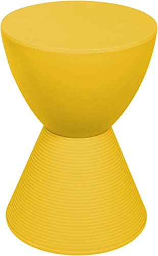LeisureMod Boyd Modern Accent Side Table End Table Indoor and Outdoor Use Yellow