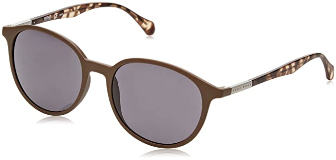 56b75fda23fa Image Unavailable. Image not available for. Color  Hugo Boss BOSS 0822 S  YWPIR (Bronze - Transparent Havana with Grey lenses)