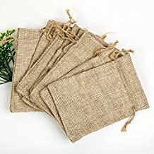 Shintop Burlap Bags - Burlap Drawstring Pouches Wedding Gift Bags Jewelry Candy Pouch Bags 10pcs