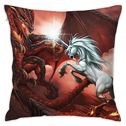 Amazon Lalaeltd Dragon Unicorn Print Decorative Throw Pillow New Pillow Decor Ltd
