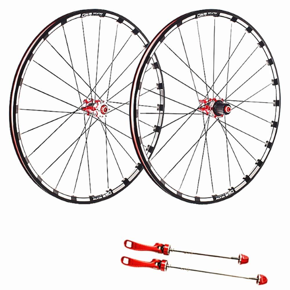 Crystalzhong 自転車 バイク 車輪セット カーボンファイバー マウンテンバイク ホイールセット 5 パリン 26/27.5/29 インチ クイックリリリース バレルシャフト 120 リング 合金 ホイール ロード フリーヒール 29