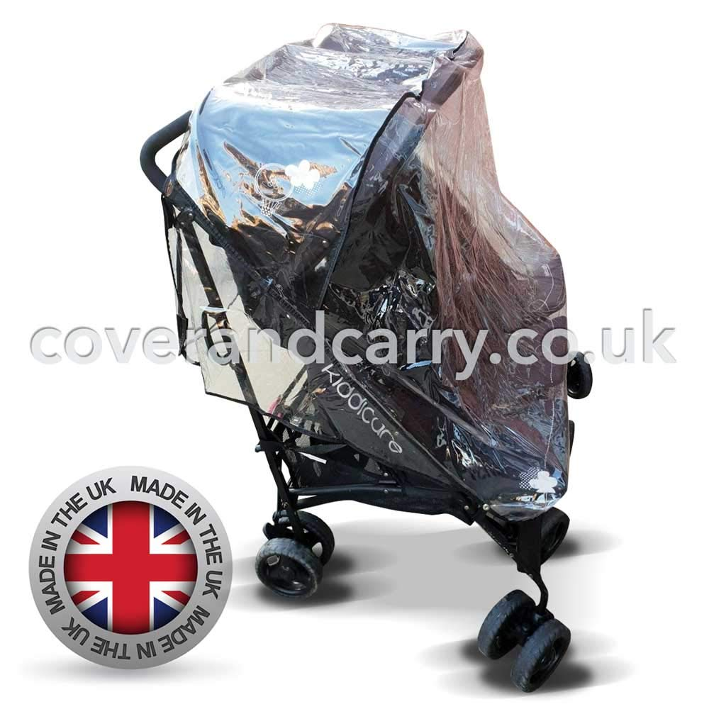 Raincover made in the UK for use with The Mercury Triple Pushchair