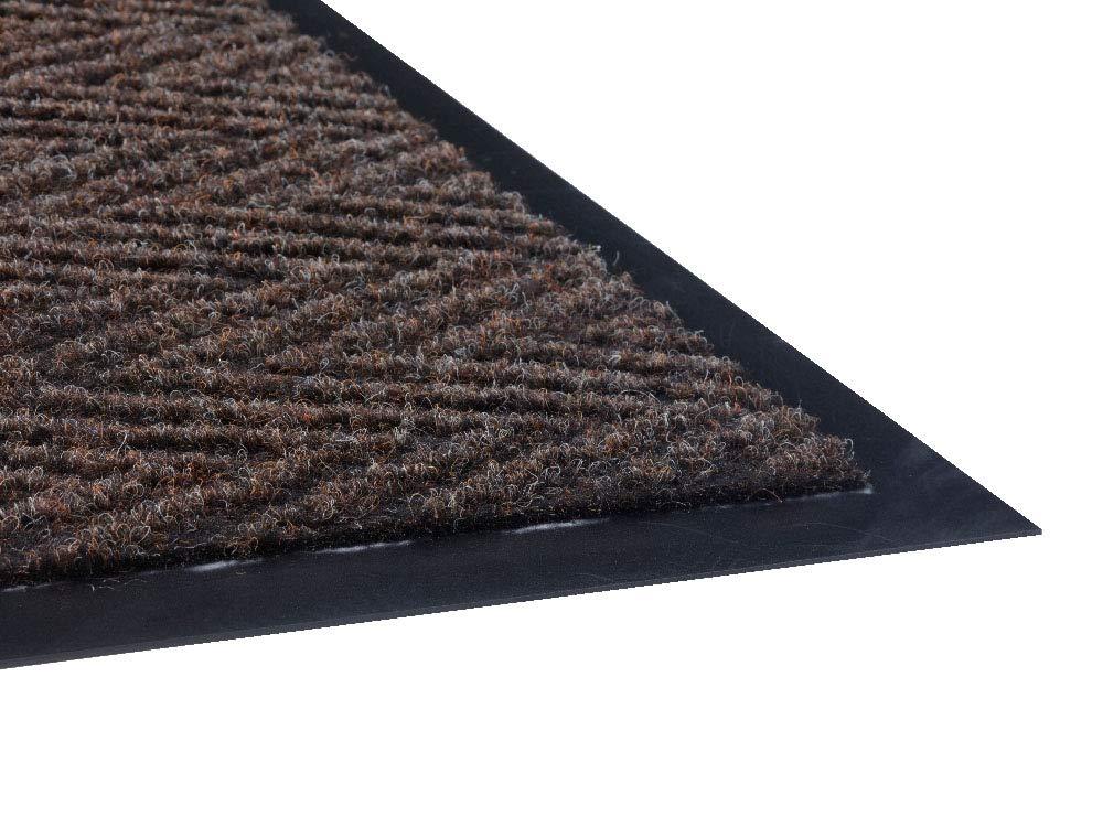 Charcoal 4x8 Guardian Golden Series Chevron Indoor Wiper Floor Mat Vinyl//Polypropylene