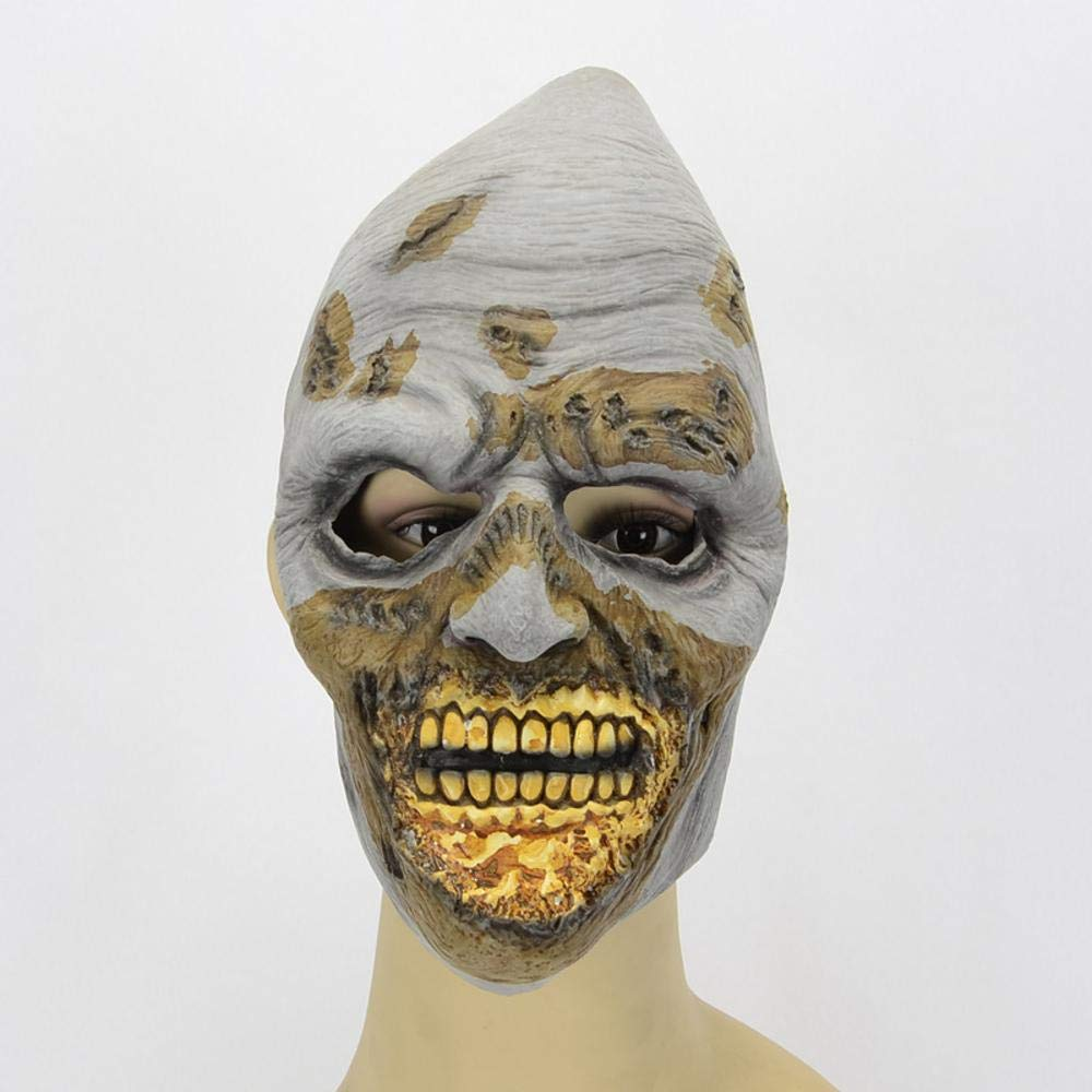 Rwdacfs Halloween Mask,Halloween Night Shop Party Green Mouth Face-Down Latex Mask