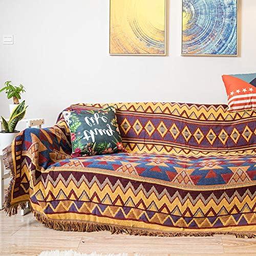 ARIESDY - Manta de algodón 100% Tejido para sofá, Funda cálida de ...