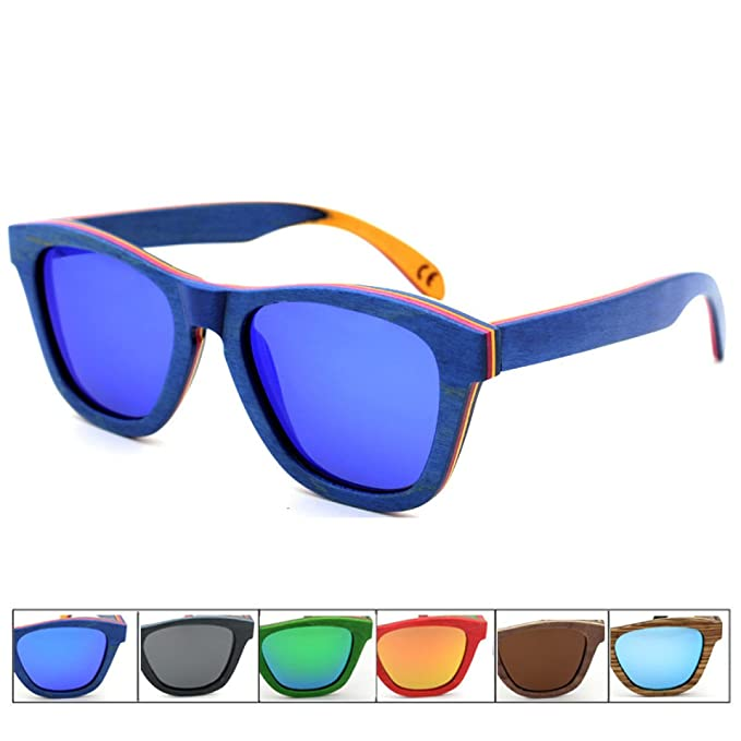 Gafas Polarizadas De Alta Calidad Gafas De Sol De Madera Retro De Color Bambú Gafas De