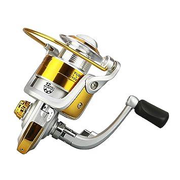 Facecozy - Juego de Palos de Pesca de Metal para Hombre, Carrete de Pesca,
