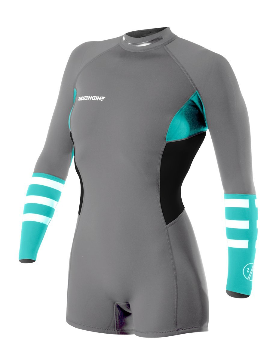 Ride Engine Wetsuit Women's Almar 2/2mm Back Zip Shorty Long Sleeve (4)