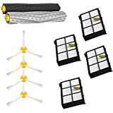 VacuumPal Replacement Parts Kit for Iobot Roomba 800 and 900 Series 805 860 870 871 880 890 960 980 Vacuum Cleaner Accessories Including Debris Extractor Set,Side Brush and Hepa Filters