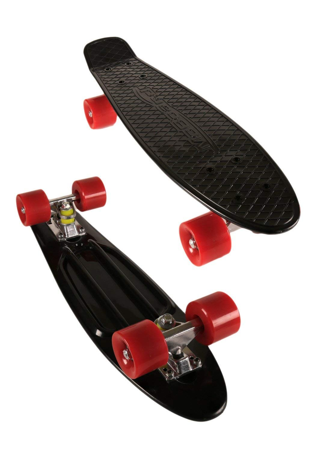 MoBoard 27'' Inch Graphic Complete Skateboard (Red - Black) by MoBoard