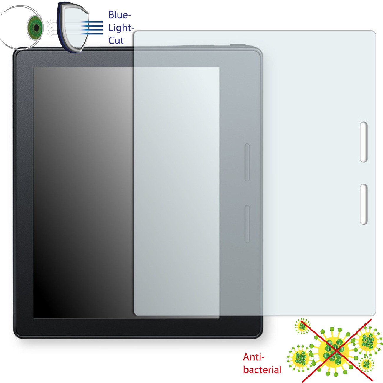 DISAGU ClearScreen screen protection film for  Kindle Oasis 6'' antibacterial, BlueLight filter protective film #dh6670