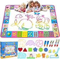 Aqua Magic Mat - Kids Painting Writing Doodle Board Toy - Color Doodle Drawing Mat Bring Magic Pens Educational Toys for...