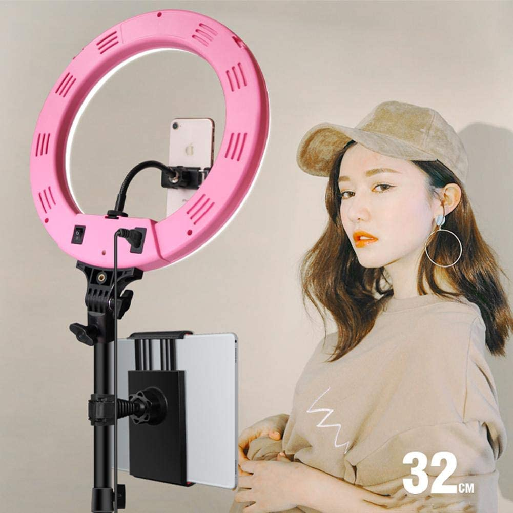 Bluetooth Receiver 11 Levels for Make-Up Video Recording 32CM Table Ring Light with Remote Control LEEaccessory LED Ring Light Tripod Kit Selfie Ring Light Set 3 Color
