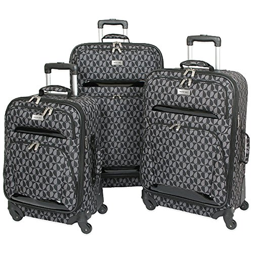 the-grey-black-geoffrey-beene-3-piece-hearts-luggage-set