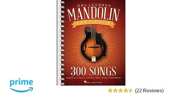 Amazon The Hal Leonard Mandolin Fake Book 300 Songs