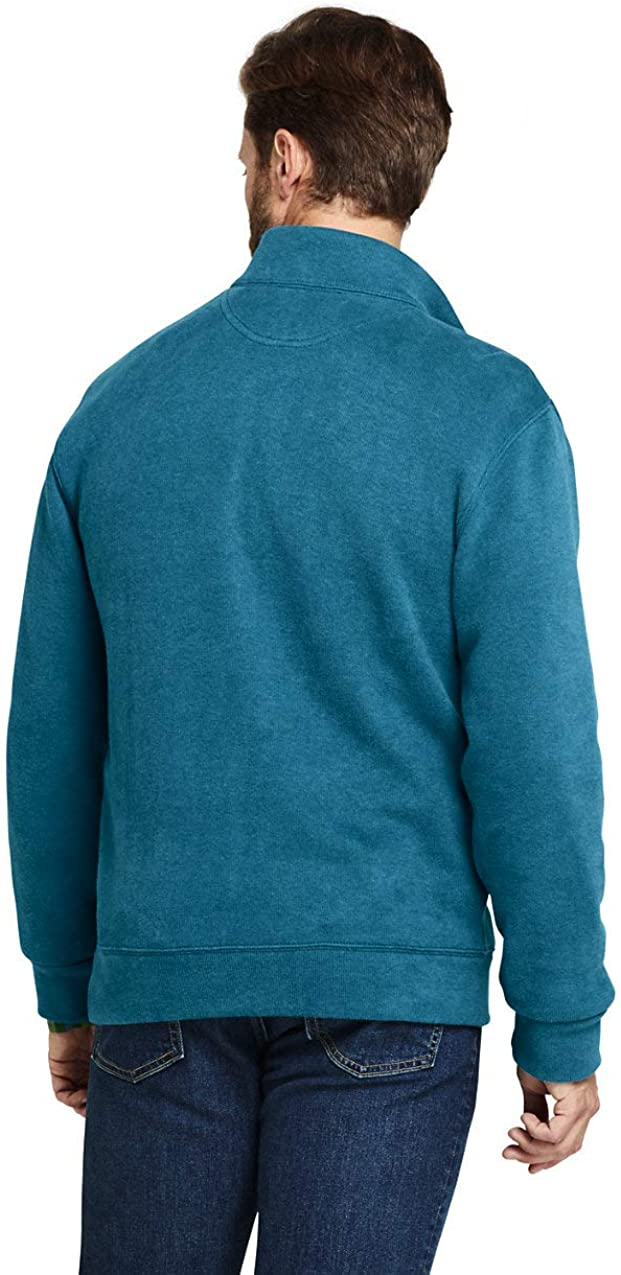 Lands End Mens Tall Bedford Rib Heathered Quarter Zip Sweater