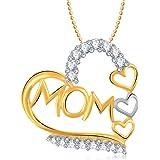 VK Gold Rhodium Plated Mom Pendant for Women