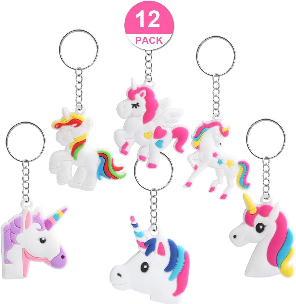Kesote 12 llaveros en Forma de Unicornio Llavero Color Unicornio de 6 Modelos Buen Regalo para Niños, Amigos: Amazon.es: Juguetes y juegos