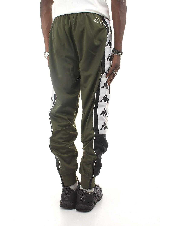 5f3ed36717 Kappa 222 Banda 10 Alen Pants - Green/Black/White - XL at Amazon ...