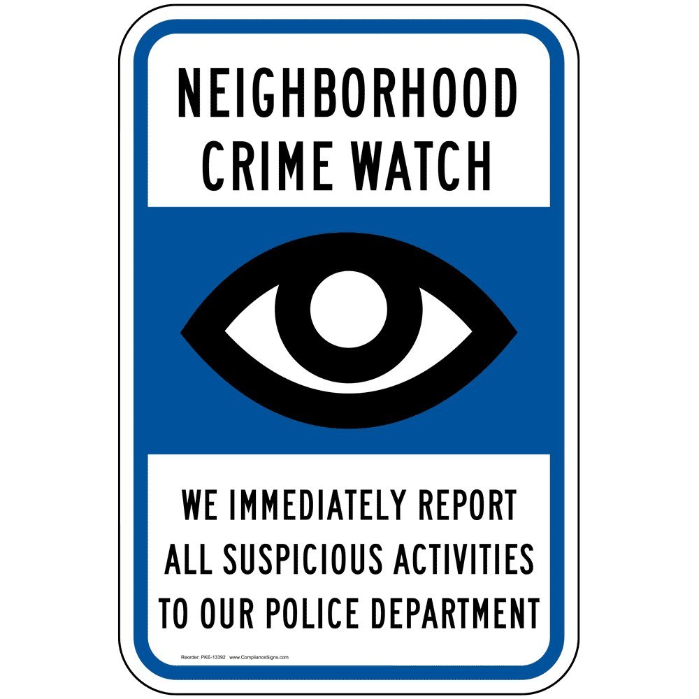 Report All Suspicious Activities To Police Security Sign LABEL DECAL STICKER
