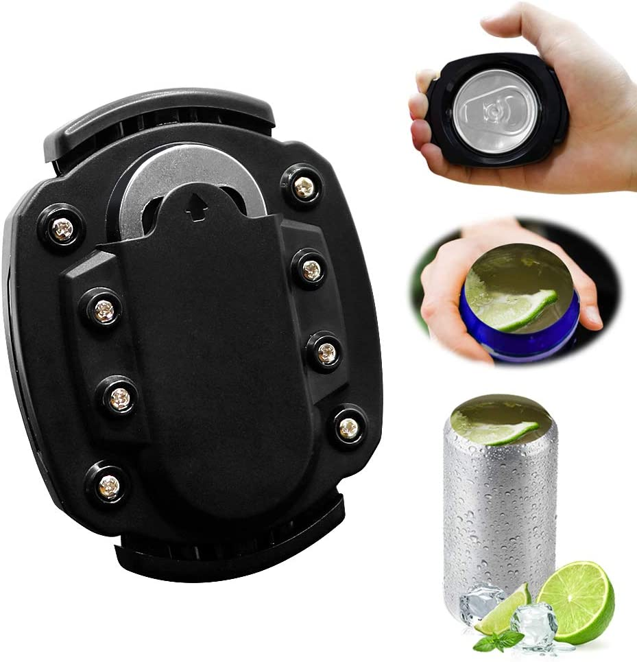 Can Opener Handheld, 2 in 1 Topless Opener for Smooth Edge Beer Bottle Opener for 8-19 Oz Beverage Cans Household Kitchen Bar Tool