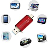 Clé USB 3.0 Type-C à Double Connectique MAXINDA Flash Drive DataTraveler Originale - 64 Go - Rouge