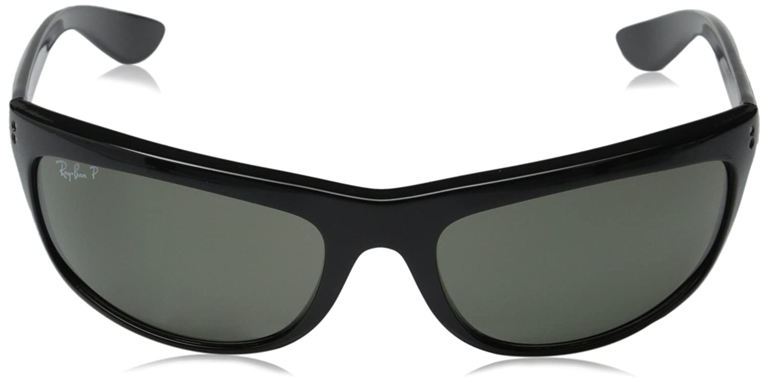 Amazon.com: Ray-Ban Men\'s Balorama Polarized Oval Sunglasses, Black ...