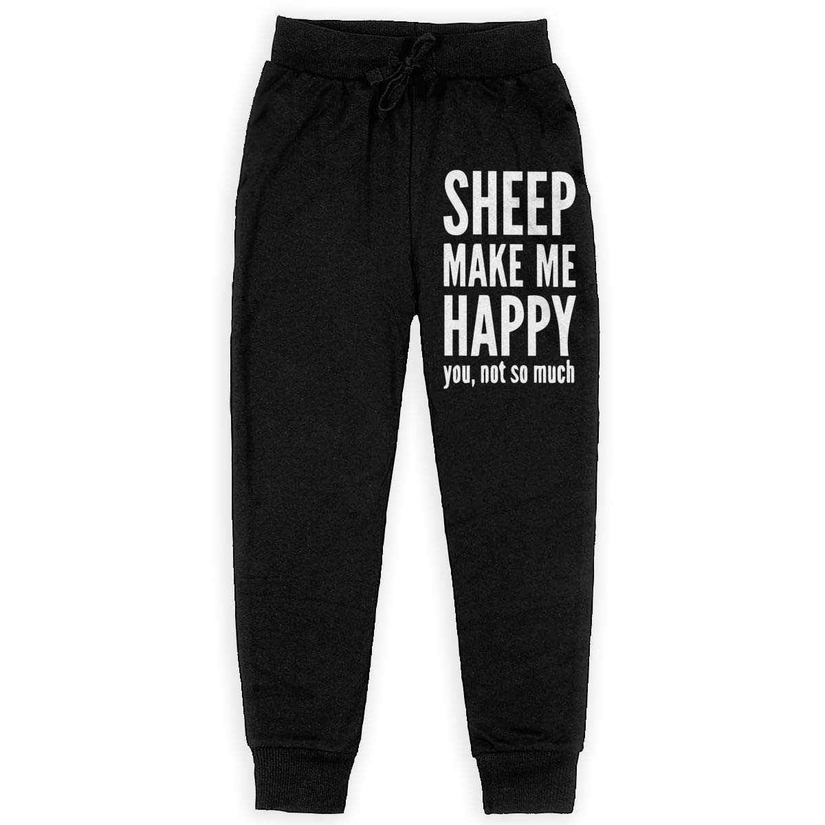 WYZVK22 Sheep Makes Me Happy Soft//Cozy Sweatpants Boys Sweat Pant for Teenager Girls