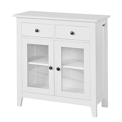 SoBuy®- Estanterías 2 puertas, armario bajo, Consola mesa madera ...