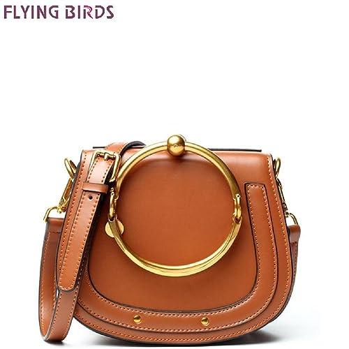 Amazon.com: Pájaros volando bolsa de piel genuino marcas ...