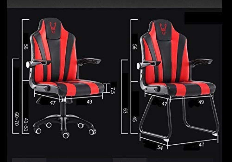 Skrivbordsstolar kontorsstol datorstol hemstol ergonomisk baksida kontorsstol, svängbar stol spelkontor (färg: Röd) rosa