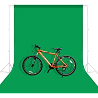 MOUNTDOG 6.5ftx10ft Photography Backdrop Background, Green Chromakey Muslin Background Screen for Photo Video Studio (Stand NOT Included)