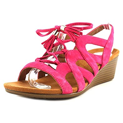 a5845abf45 Amazon.com | Vionic Womens Park Kalie Lace Up Wedge Sandal Pink Size 5 |  Sandals