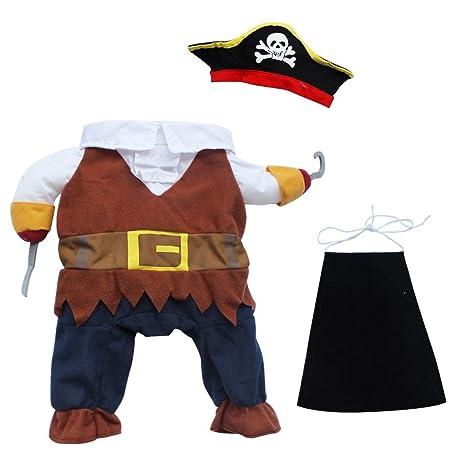 feeshow mascota perro gato pirata disfraz de Halloween ...
