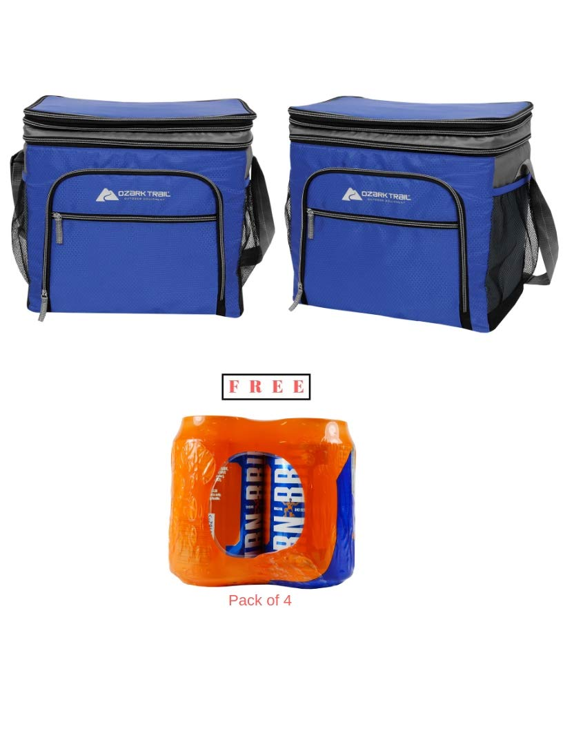Blue Ozark Trail 12 Can Expandable Top Soft-sided Cooler Outdoor Equipment Fits 12 Cans