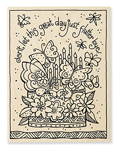 Stampendous LBR013 Laurel Burch Wood Stamp, Flutterbye