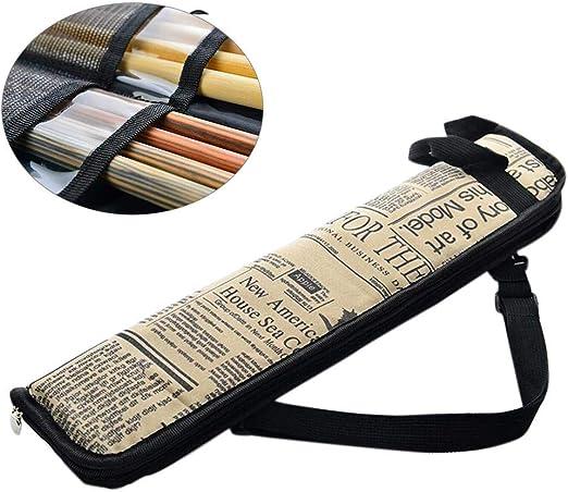 luminiu Funda para Baquetas de Batería, Baquetas de Batería con un Bolsillo Externo Hanging Bag Baquetas Accesorios Bolsa de Mano Volumen de Material Nylon Impermeable: Amazon.es: Hogar