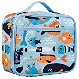 Lunch Box, Wildkin Lunch Box, Insulated, Moisture Resistant, and Easy to Clean with Helpful Extras for Quick and Simple Organization, Ages 3+, Perfect for Kids or On-The-Go Parents – Big Fish