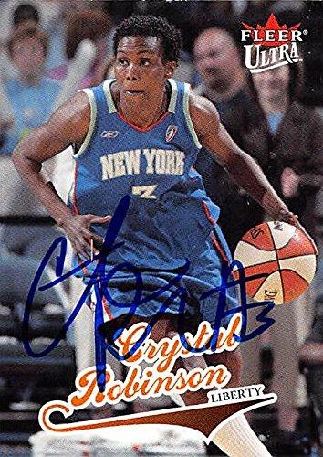 (Crystal Robinson autographed Basketball Card (New York Liberty) 2004 Fleer Ultra #6 WNBA - Autographed WNBA Cards)