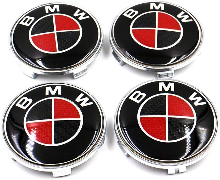 color2 4 pcs A Set 68mm Carbon Fiber Wheel Center Caps Hubcaps For BMW color3