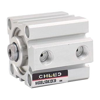 Baomain Compact Thin Air Cylinder SDA 50x30 50mm Bore 30mm Stroke PT1//4 Port