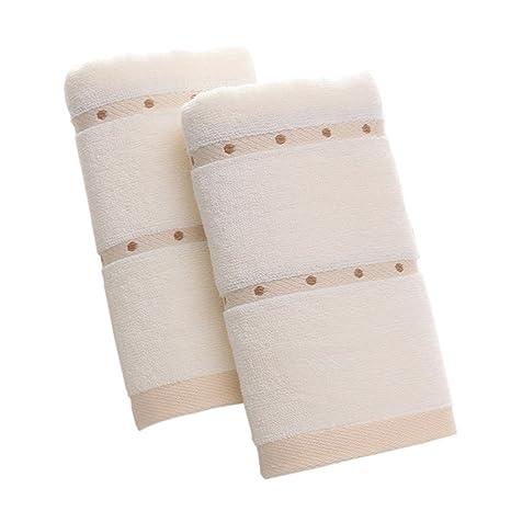 hoomall toallas de baño absorbentes lavables en máquina, poliéster, diseño 1, 34x80cm