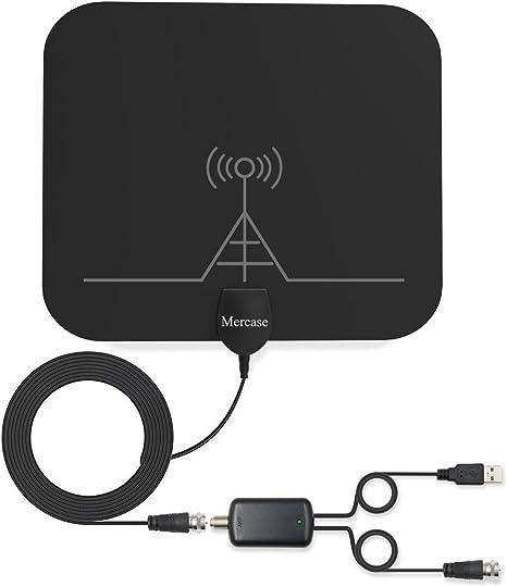 Antena de TV, Mercase 60 millas de rango interior alta recepción canales Smart TV Antena para